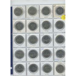 20 assorted $1.00 coins