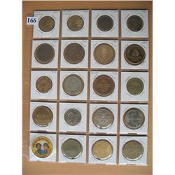 VARIOUS COINS and MEDALLIONS - LOT of 20 DIFFERENT