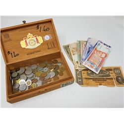 CIGAR BOX WITH MONEY