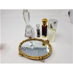 TRAY WITH PERFUME BOTTLES