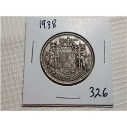 1938 50 CENT SILVER COIN
