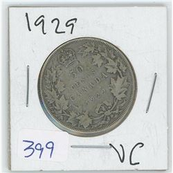 1929 50 CENTS (CANADA)