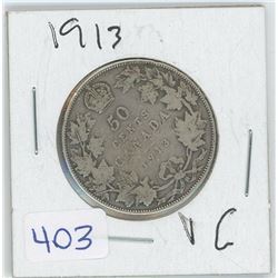 1913 50 CENTS (CANADA)