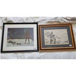 """2 RCMP PICTURES (19"""" X 16"""" -- 18"""" X 14"""")"""
