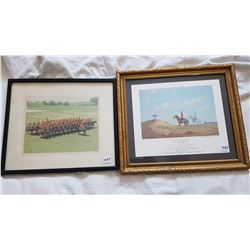 """2 RCMP PICTURES (14"""" X 16"""" -- 12"""" X 14"""")"""