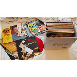 LARGE LOT OF RECORDS (ELVIS, ROCK AND COUNTRY)