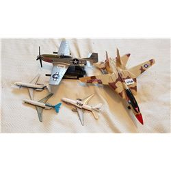 """LOT OF AIRPLANES INCLUDING P-51 MUSTANG 9"""" WING SPAN, 3 SMALL DIE CAST"""