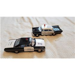 LOT OF 2 DIE CAST POLICE CARS