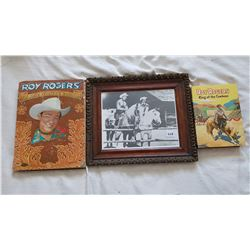 ROY ROGERS PICTURE AND 2 BOOKS FROM 1956