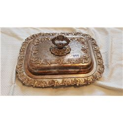 VINTAGE SILVER PLATED SERVING TRAY FROM BESBOROU HOTEL