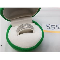 SILVER CZ RING SIZE 6.5 (MSRP $200)