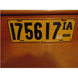 """6 BY 16"""" HEAVY TRUCK PLATE DATE UNKNOWN"""