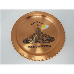 VANCOUVER COPPER PLATE, OLD BRITISH FLAG