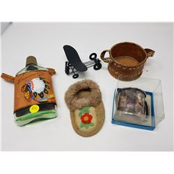 LOT OF COLLECTIBLES (AIRPLANE, MOCCASIN, ETC.)