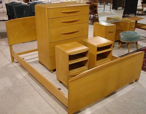 Heywood Wakefield Bedroom Set Bedroom Set Twin Bedroom Suite Vintage ...