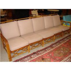 FICKS REED RATTAN SOFA