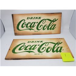 TWO COCA-COLA CRATE SIDES