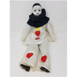 MIME DOLL WITH PORCELAIN HEAD