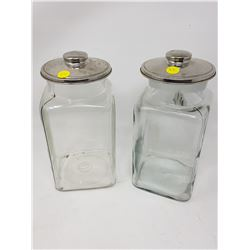 TWO CANDY JARS WITH LIDS