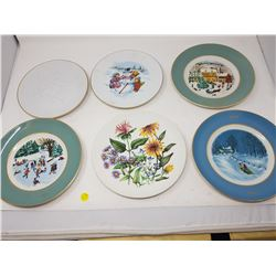LOT OF 7 COLLECTOR PLATES