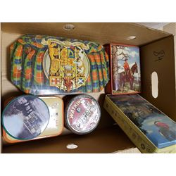 LOT OF ASSORTED TINS