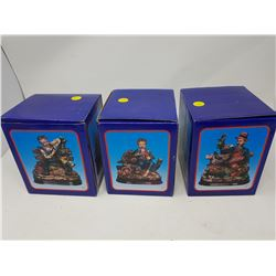 "LOT OF 3 FIGURINES (BOX IS 5.5"" X 6.5"")"