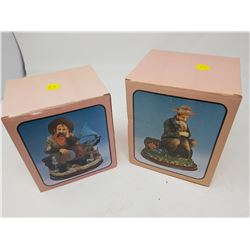 "LOT OF 2 FIGURINES (BOXES ARE 5"" X 5.5""--5.5"" X 6"")"