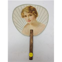 ANTIQUE SINGER HAND FAN