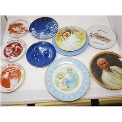 LOT OF ASSORTED PLATES (SMITTY'S MOTHER DAY PLATES, PAPAL VISIT 1984, ETC.)