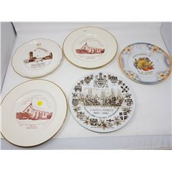 LOT OF 5 ADVERTISING PLATES