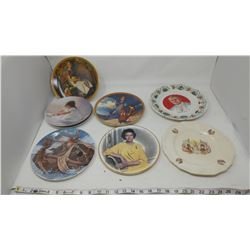 LOT OF ASSORTED PLATES (SOME NORMAN ROCKWELL, SOME ROYALTY)