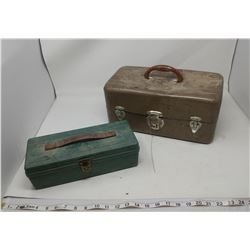 TWO TACKLE BOXES (LID CRACKED ON ONE)
