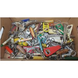 LARGE LOT OF ASSORTED BOTTLE OPENERS