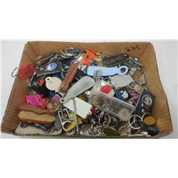LARGE LOT OF ASSORTED KEY CHAINS