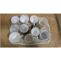 ROYALTY SERVING TRAY AND 10 ROYALTY CUPS