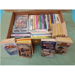 LOT OF ASSORTED BOOKS (THE CANADIANS, MAX BRAND, ELKHORN TAVERN, ETC.)