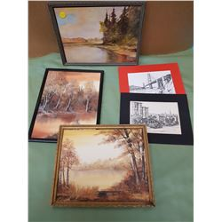 LOT OF FIVE PICTURES (NATURE PICTURES, ETC.)