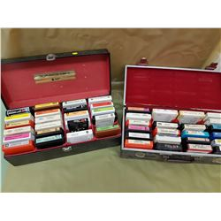 TWO BOXES OF ASSORTED 8 TRACKS