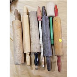 LOT OF ASSORTED ROLLING PINS