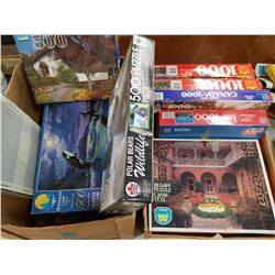 TWO BOXES OF PUZZLES