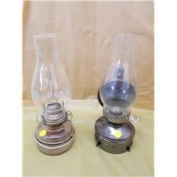TWO COAL OIL LAMPS