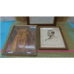 THREE PICTURES (KING GEORGE VI, KING EDWARD VIII, ETC.) *BACK COMING OFF PICTURES*
