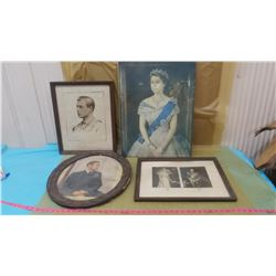 FOUR PICTURES (ROYALTY PICTURES) *SOME HAVE BROKEN GLASS, SOME DAMAGED*