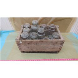 WOODEN CRATE WITH 10 SEALERS