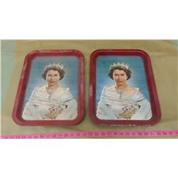 TWO ROYALTY TRAYS