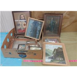 PICTURE FRAMES AND PICTURES