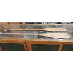 "TWO OARS 54"" LONG (SOME LIGHT DAMAGE ON BOTH)"