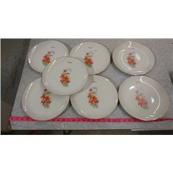 """SEVEN 10"""" PLATES WITH TIGERLILIES (MELFORT)"""