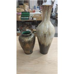 """TWO VASES (11.5"""" & 21"""" TALL)"""