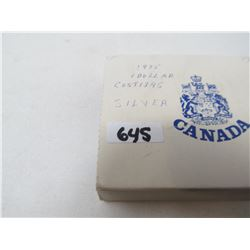 1975 - CANADIAN MINT SILVER DOLLAR IN CASE